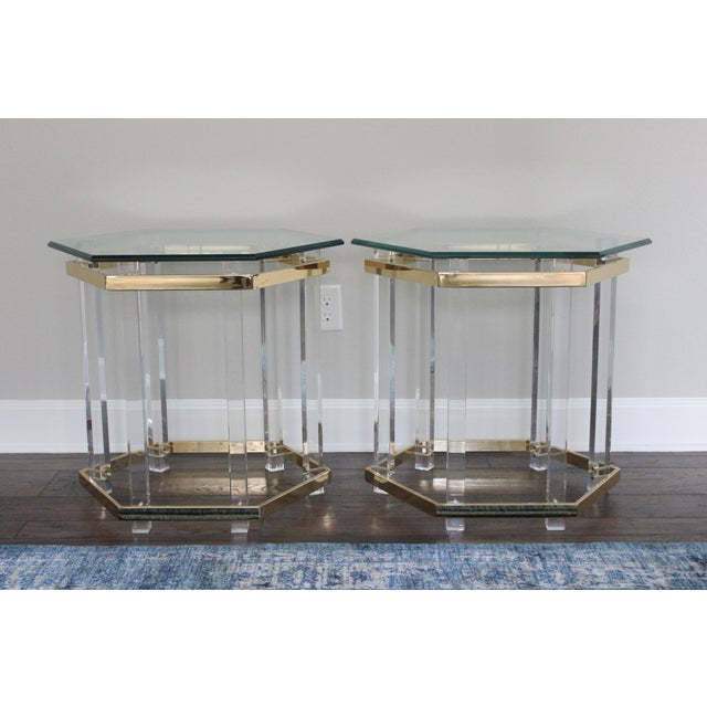 Charles Hollis Jones Style Lucite Tables - A Pair - Image 2 of 10