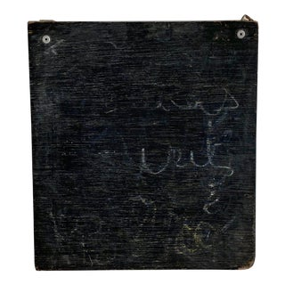 Antique French School Slate Chalk Board For Sale