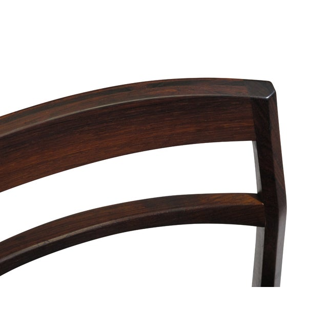 Rare Arne Vodder Solid Rosewood Dining Chairs - Set of 8 For Sale - Image 11 of 13