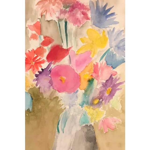 1980s Floral Still Life Painting For Sale - Image 4 of 4