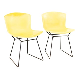Harry Bertoia for Knoll Mid Century Fiberglass Occasional Chairs - Pair For Sale