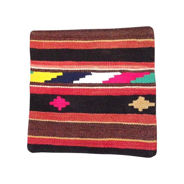 Vintage Striped Turkish Kilim Pillow - Image 1 of 5