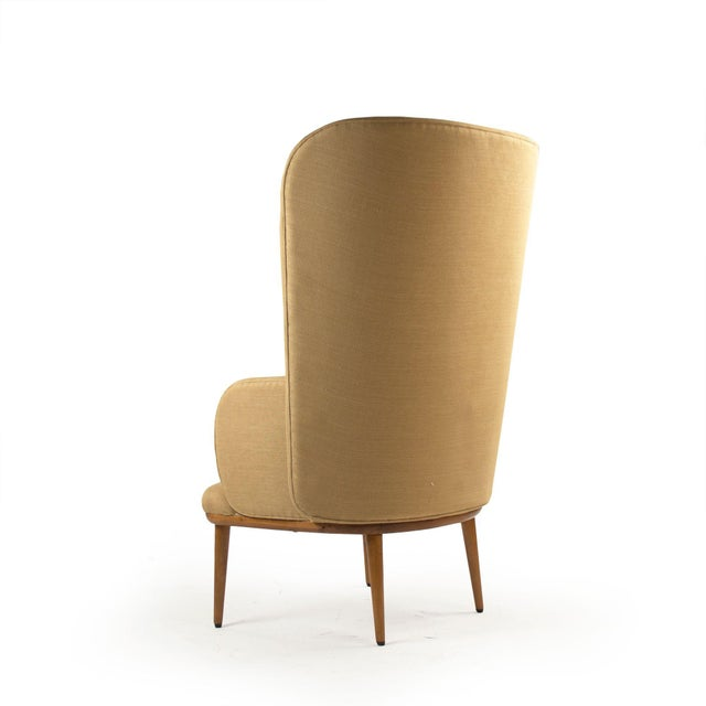 Modern Giselle Arm Chair in Khaki For Sale - Image 3 of 4