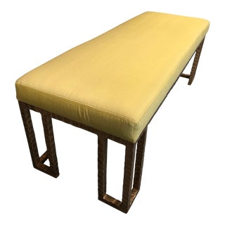 Germaine Upholstered Tuscan Gold Bench For Sale