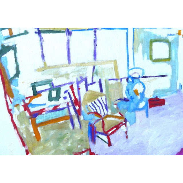 Blue The Artist's Studio (Oil Painting) For Sale - Image 8 of 9