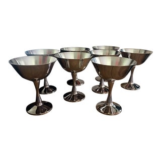 Salem Silver Co. Silver Plated Coupes - Set of 8 For Sale