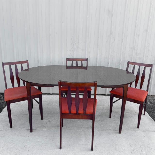 Mid-Century Modern Dining Set With Five Chairs For Sale - Image 13 of 13