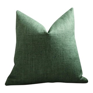 Dark Green Woven Pillow Cover 22x22 For Sale