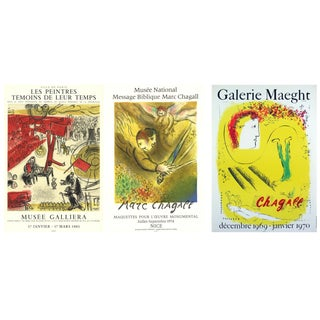 Marc Chagall, the Revolution & the Angel of Judgment & the Yellow Background For Sale