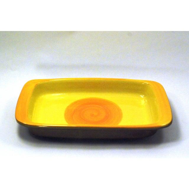 MCM Swedish Yellow/Orange Stoneware Tray - Image 3 of 6