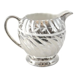 English Platinum Luster Pitcher For Sale