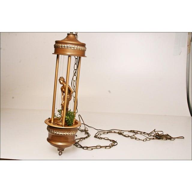 Vintage Mineral Oil Hanging Lamp - Image 4 of 11