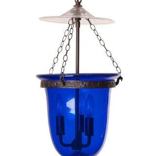 Antique Blue Glass Bell Jar Lantern Preview
