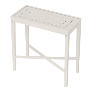 Oomph On the Rocks Rectangle Outdoor Side Table, White For Sale