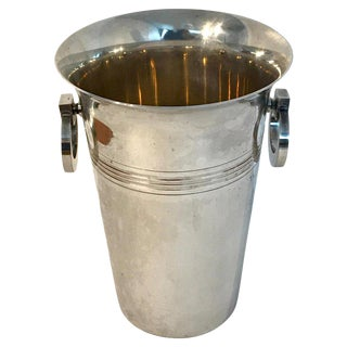 French Art Deco Silver Plated Champagne Bucket For Sale
