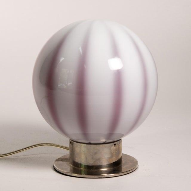 Global Views 1980s Hollywood Regency Global Views Murano Globe Lamp For Sale - Image 4 of 8