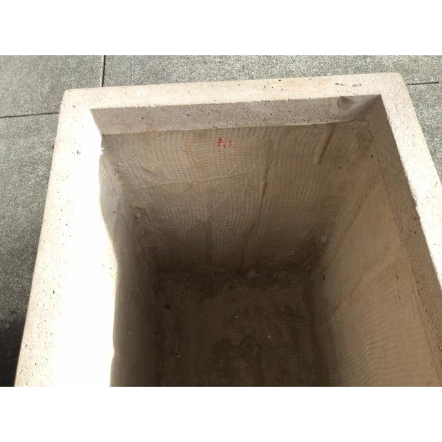 Concrete Contemporary Urbano Rectangular Planter For Sale - Image 7 of 10