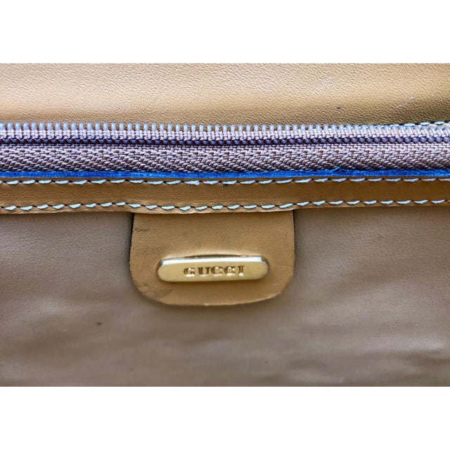 1980s Gucci Supreme Logo Canvas and Leather Convertible Purse/Crossbody For Sale In New York - Image 6 of 11