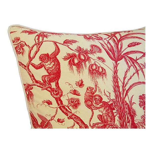 French Marius Boudin Toile & Linen Pillow - Image 4 of 7