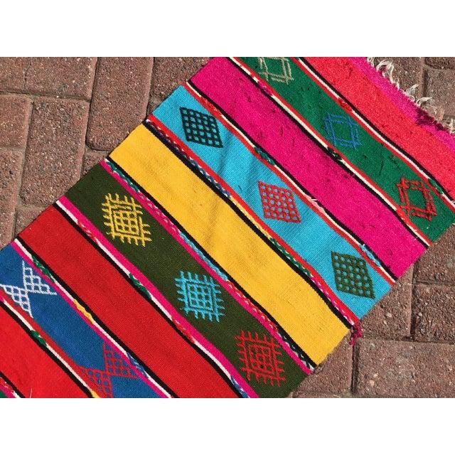 Colorful Turkish Kilim Rug For Sale - Image 4 of 9