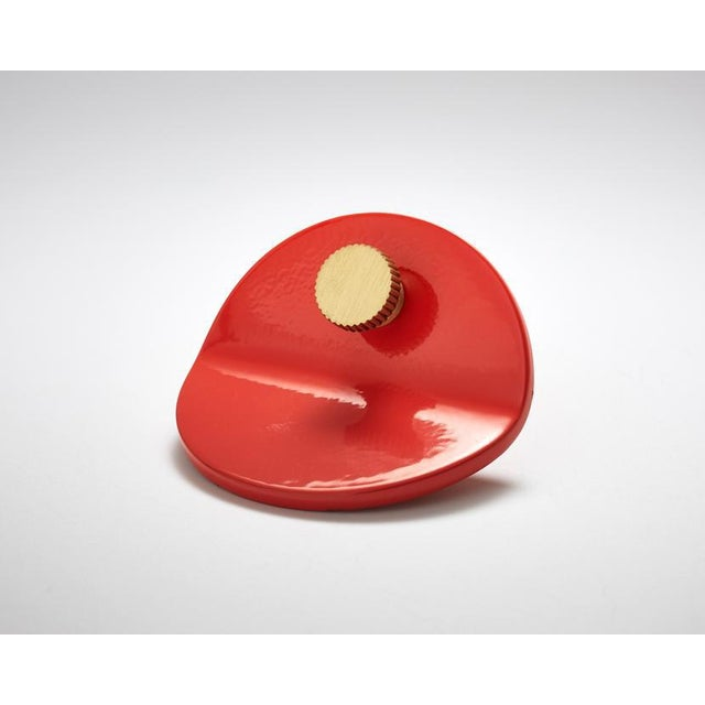 Modern Nest Studio Collection Geo-C-01 Tomato Pull For Sale - Image 3 of 3