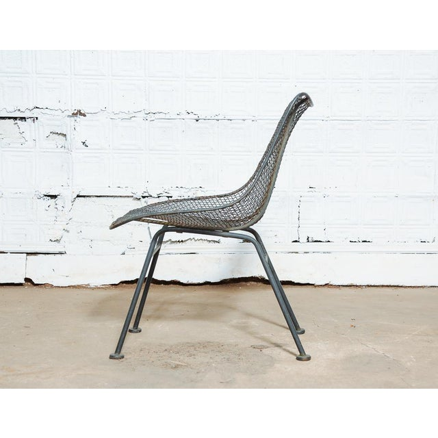 Russell Woodard Set of 4 Russell Woodard Wire Chairs For Sale - Image 4 of 9