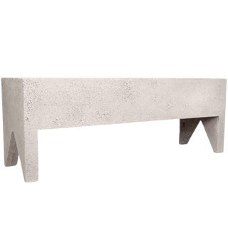 Zachary A. Design Natural Stone Finish Cast Resin 'Farm' Bench For Sale
