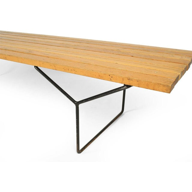 Harry Bertoia Harry Bertoia for Knoll Slat Bench For Sale - Image 4 of 7