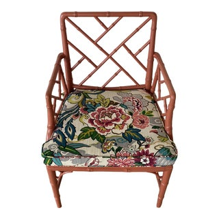 Vintage Chinoisere Chair For Sale