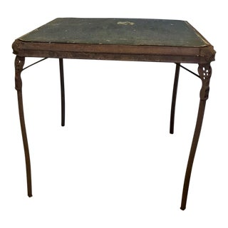1920's Art Deco Folding Card Table For Sale