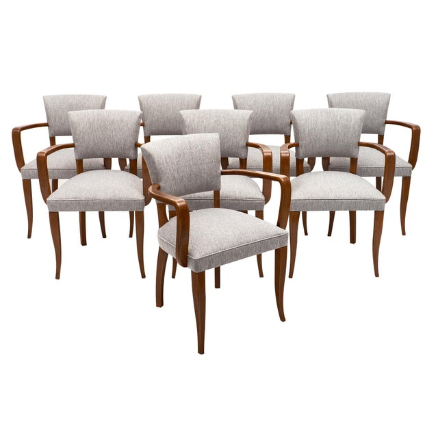 Eight French Art Deco Bridge Chairs For Sale - Image 10 of 10