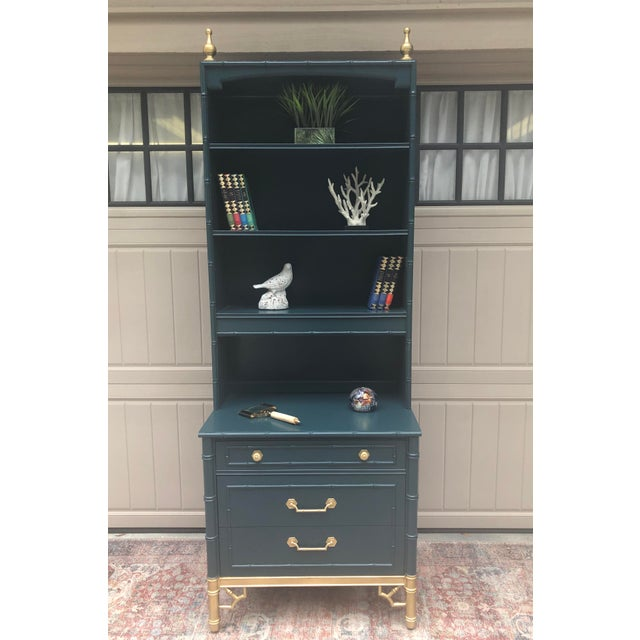 Wood Vintage Thomasville Bachelors Chest With Shelf For Sale - Image 7 of 11
