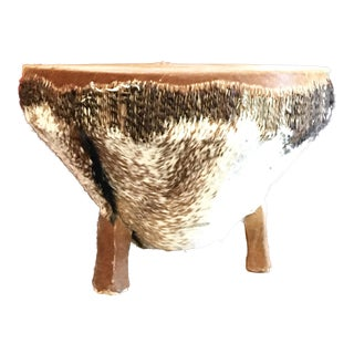 1968 African Tribal Drum Table For Sale
