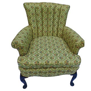 Queen Anne-Style Channel Back Armchair