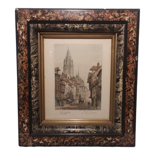 Late 19th Century Antique Thomas Edward Francis Hand-Colored Lithograph Print For Sale