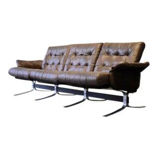 "Danish Mid Century Tufted Leather ""Atlantis"" Sofa by Ebbe Gehl & Søren Nissen For Sale"