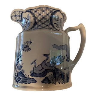 1950s Old Chelsea Blue & White Milk Pitcher For Sale