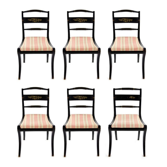Early American Hitchcock Style Dining Chairs - Set of 6 For Sale - Image 12 of 12