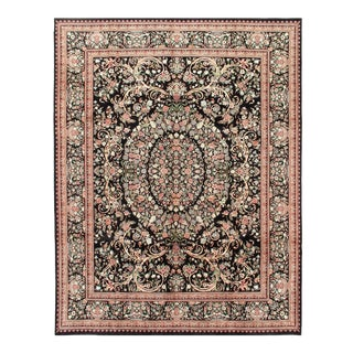 Pasargad Black Savonnerie French Design Rug - 9' X 12' For Sale