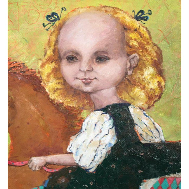 1990s Vintage Russian Whimsical Paintings by Elena Kallistova- A Pair For Sale - Image 9 of 13