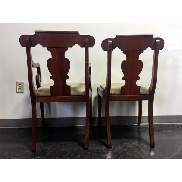 Vintage Willett Solid Cherry Empire Style Dining Chairs - Set of 6 For Sale In Charlotte - Image 6 of 11