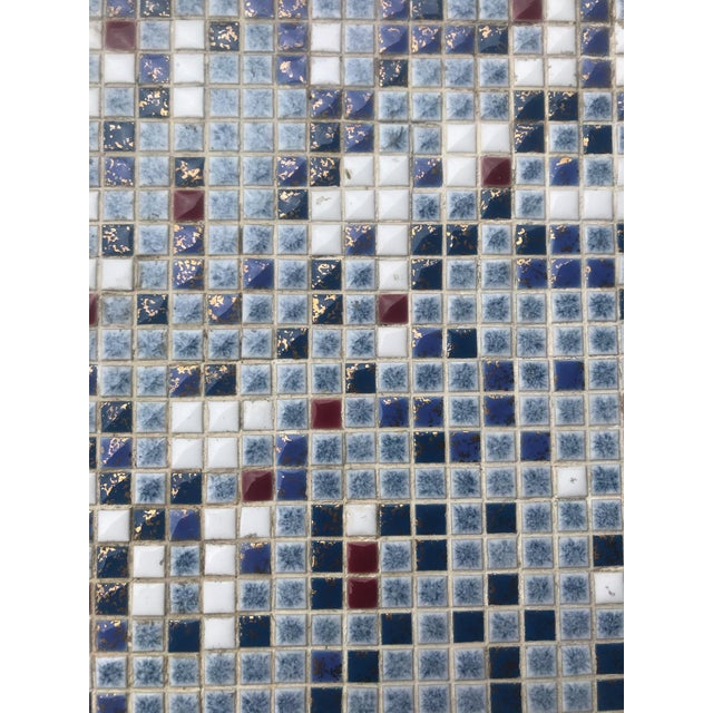 Vintage Mid-Century Modern Mosaic Tile Occasional Table For Sale In Buffalo - Image 6 of 9