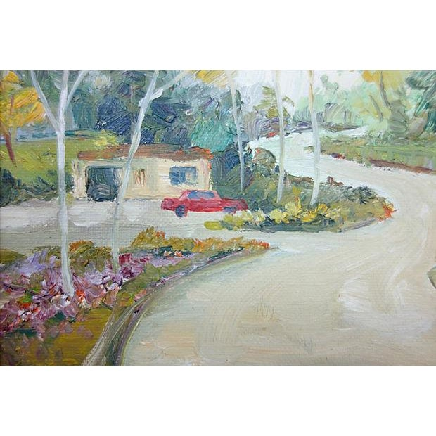 Oil Landscape Painting Titled Long, Winding Road - Image 3 of 4