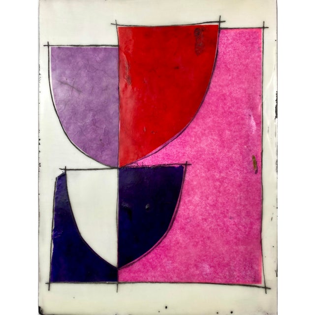"""2020s """"Better Days"""" Encaustic Collage Installation by Gina Cochran - 9 Panel Set For Sale - Image 5 of 13"""
