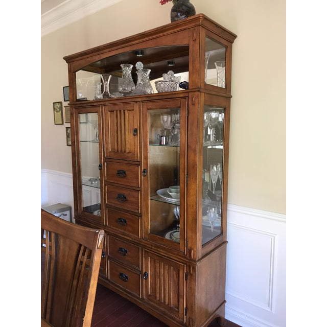 Mission Style China Cabinet - Image 2 of 3