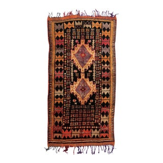 Vintage Moroccan Taznakht Rug - 4′3″ × 8′ For Sale