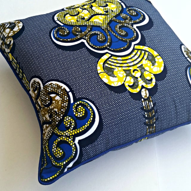 Sample Sale- Royalty African Print Pillows- a Pair - Image 2 of 4