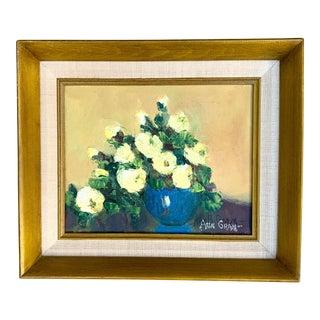 Vintage Floral Still Life Oil Painting For Sale