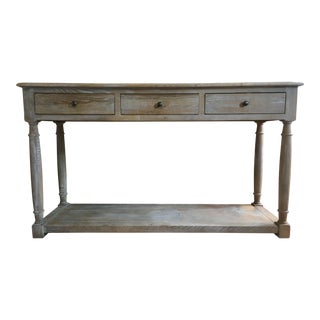Rustic French Provençal Console For Sale