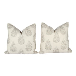 Custom Kedara Leaf Pillows - A Pair For Sale